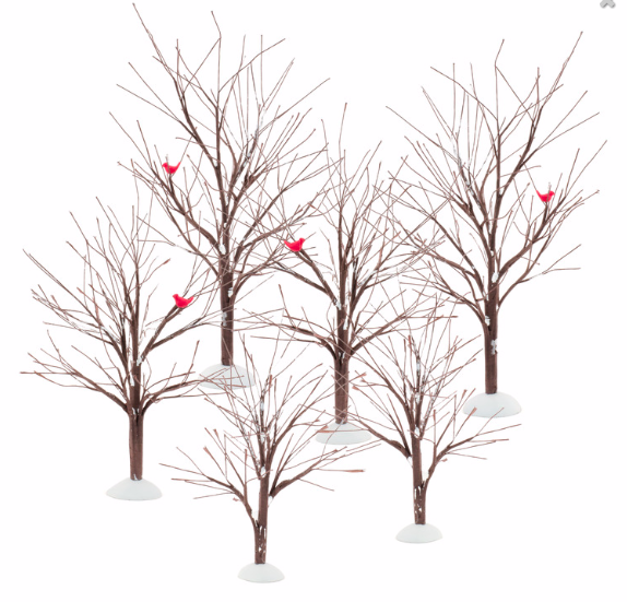 bare branch trees set of 6