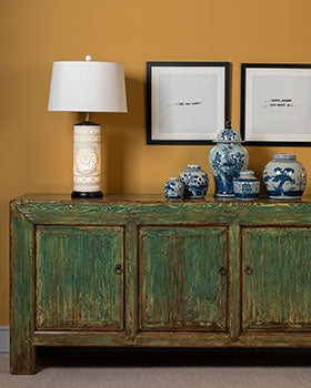 chinese antique furniture - oriental decorated sideboards & cabinets