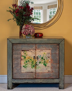 Chinese floral cabinet oriental style
