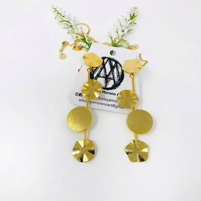 circles statement earrings