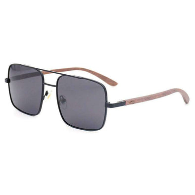 Sunglasses - Bond Black Walnut Wood Sunglasses - wynwoodtribe