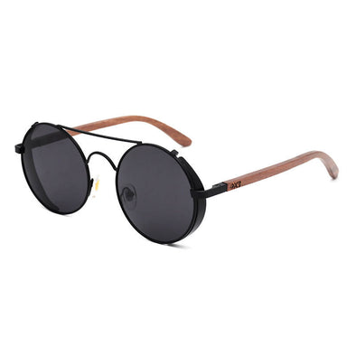 Capri BK Walnut Wood Sunglasses