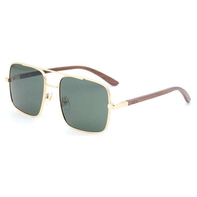 Sunglasses - Bond Gold Walnut Wood Sunglasses - wynwoodtribe