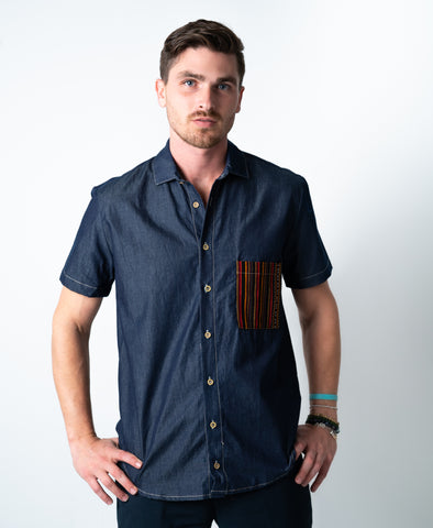 Twilight Men's Button Down With Pockets
