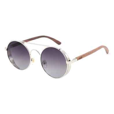 Capri Walnut Wood Sunglasses