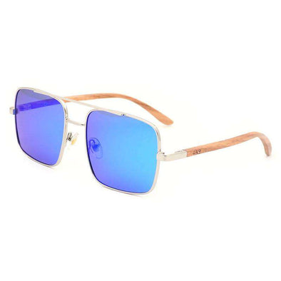 Sunglasses - Bond BL Sebra Walnut Wood Sunglasses - wynwoodtribe