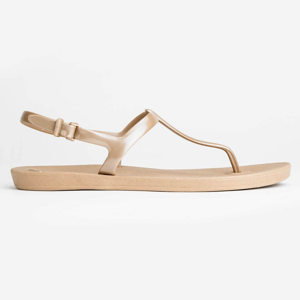 Women's Shoes - T-Strap Sandals Chai Aged Gold - wynwoodtribe