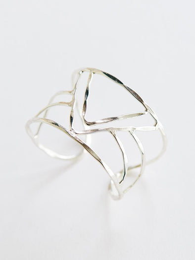 Jewelry - Peaks and Valleys cuff silver - wynwoodtribe