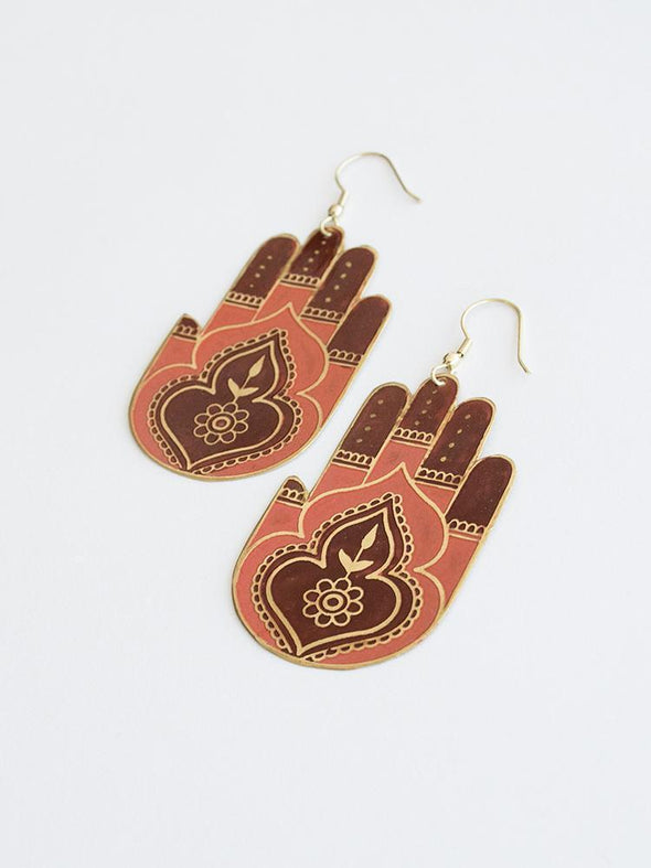 Peaceful Greetings Earrings Coral