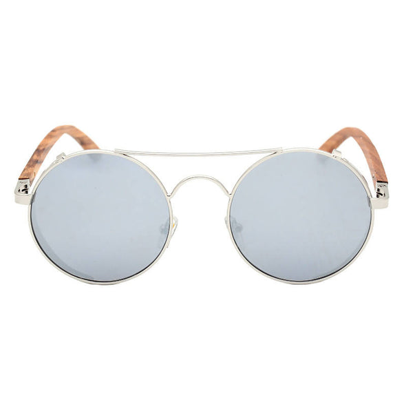 Capri Silver Walnut Wood Sunglasses