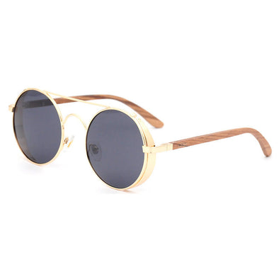 Capri Gold Zebra Wood Sunglasses
