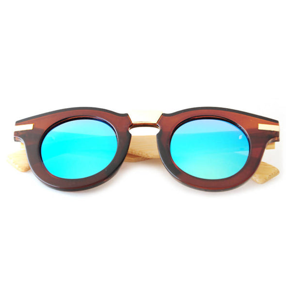 Lila G Bamboo Wood Sunglasses