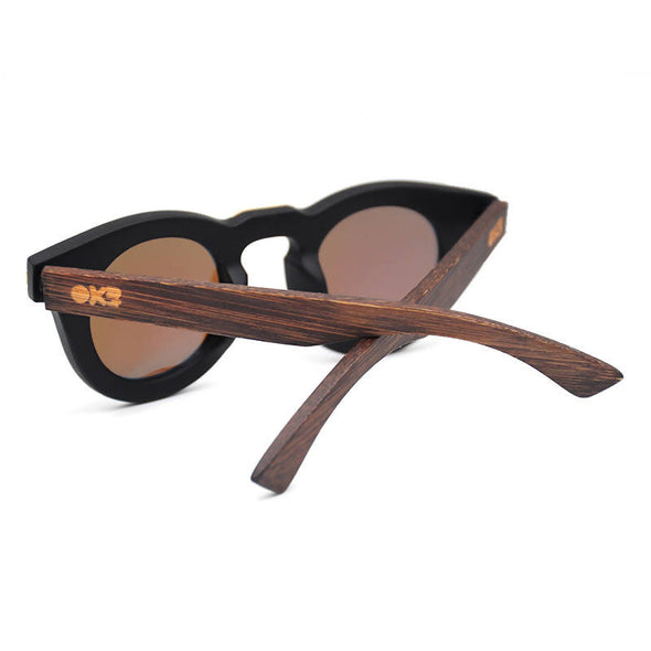 Lila Walnut Bamboo Wood Sunglasses