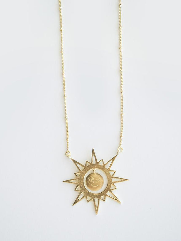 Ethereal Drop Necklace Gold