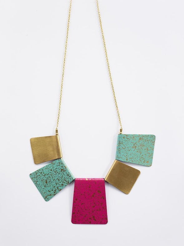 Jewelry - Patina Bib Necklace Multi - wynwoodtribe