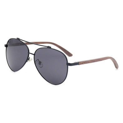 Nero BK Walnut Wood Sunglasses
