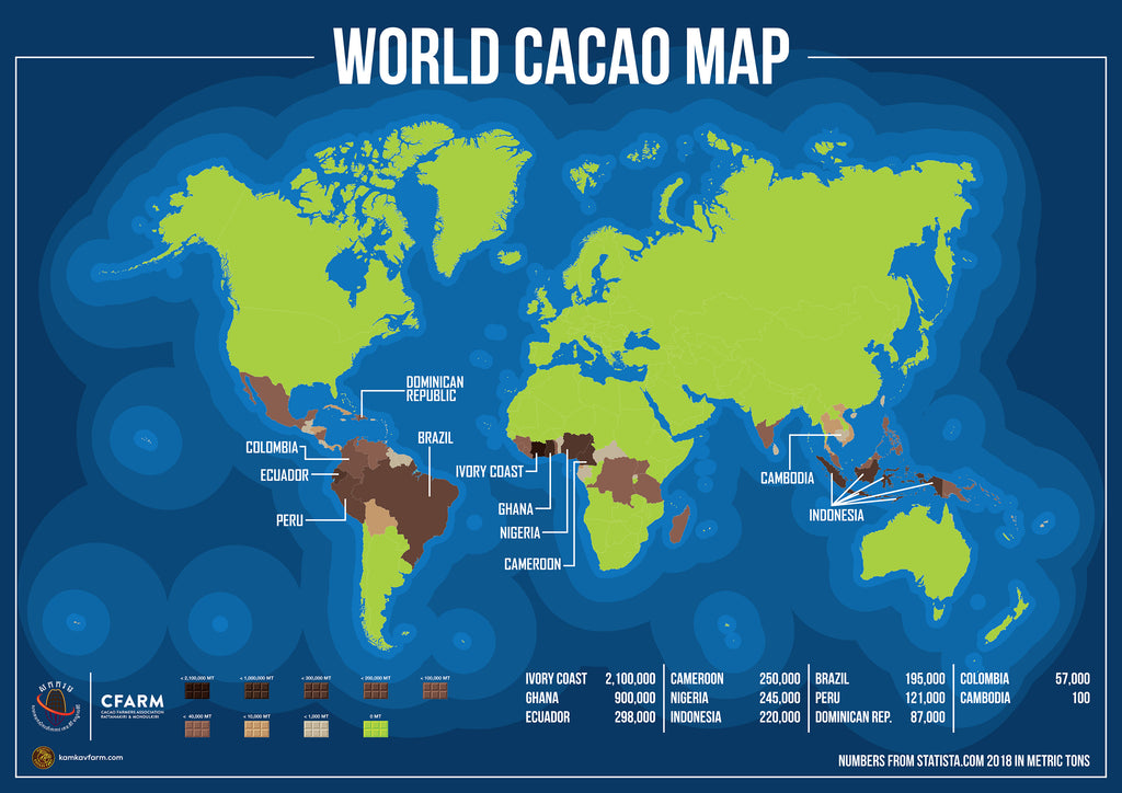 World Cacao Map