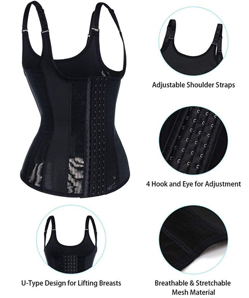 GOTOLY Woman Waist Trainer Cincher with Straps