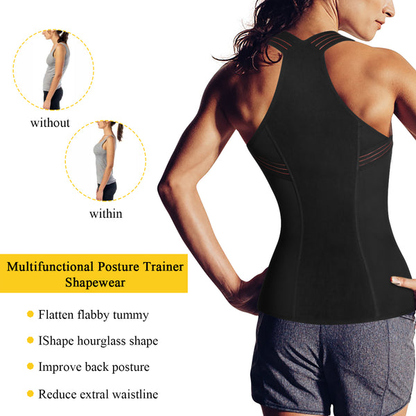 GOTOLY Posture Corrector Waist Cincher  with Zipper