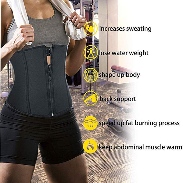 GOTOLY Neoprene Sauna Waist Trainer Corset for Weight Loss