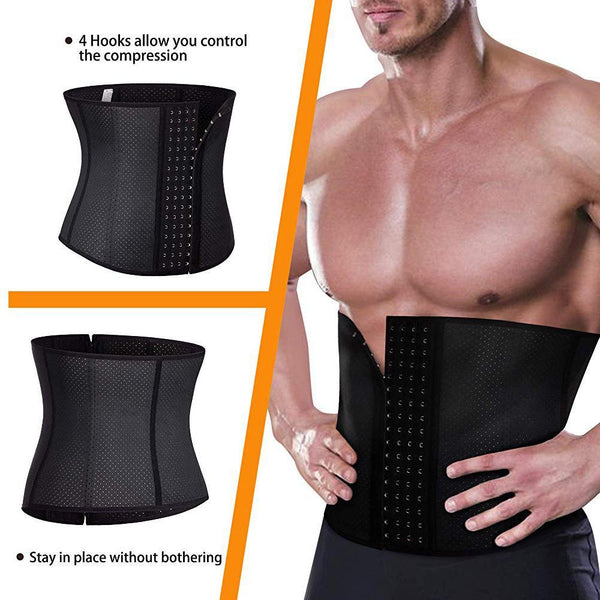 GOTOLY Men Fat Burning Hot Sweat Latex Waist Trainer