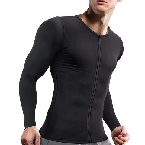 GOTOLY Men Slimmer Body Shape Compression Udershirts with Zipper