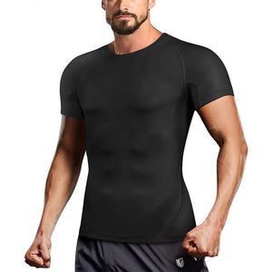 GOTOLY Men Quick Dry Workout Compression Athletic Shirt