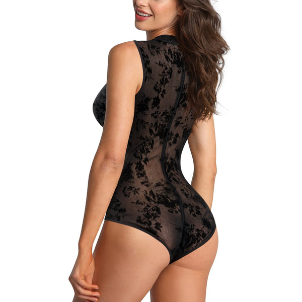 GOTOLY Women Lace Perspective Shapewear