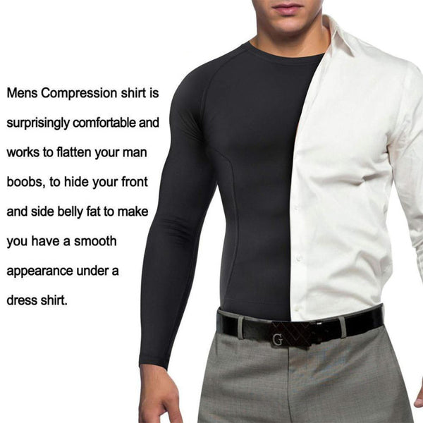 GOTOLY Men Compression Slimming Shaper Long Sleeve