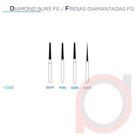 FG Diamond Taper Round End 4135 Extra Fine