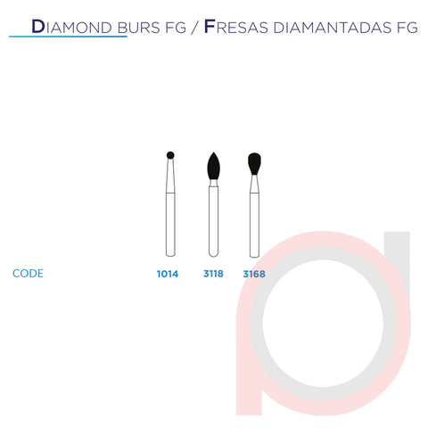 FG Diamond Pear 3168 Extra Fine