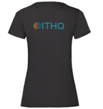 Load image into Gallery viewer, ITHQ-T-shirt-women-black-back.png