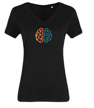 Load image into Gallery viewer, ITHQ-T-shirt-women-black-front.png