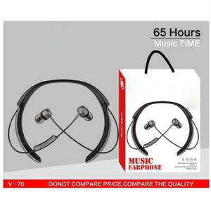 Top Quality Best Selling Music Neckband Wireless With Mic Headphones Bluetooth Headset  (Black, In the Ear)