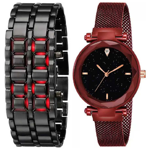 Fashion Designer Metal Bracelet Watch Outdoor LED Digital Hour Mechanical Sports Watches Men Women