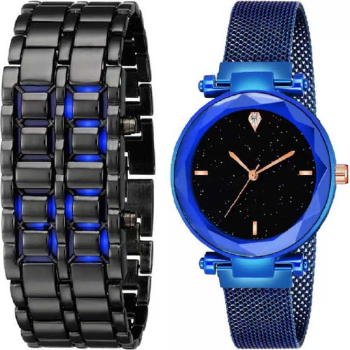 New Fashion Designer Metal Bracelet Watch Outdoor LED Digital Hour Mechanical Sports Watches Men Women