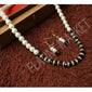 Fashionable Best Quality Designer Pearls Stylish Trending Jewel stone Set (Black)