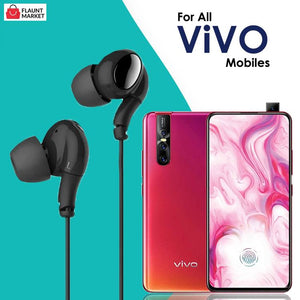 High Bass Stereo Sound In-Ear Wired Earphones With Mic For All ViVO Mobiles