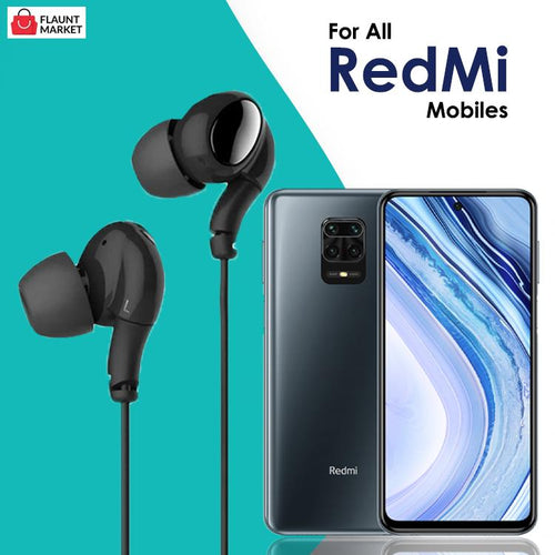 High Bass Stereo Sound In-Ear Wired Earphones With Mic For All Redmi Mobiles