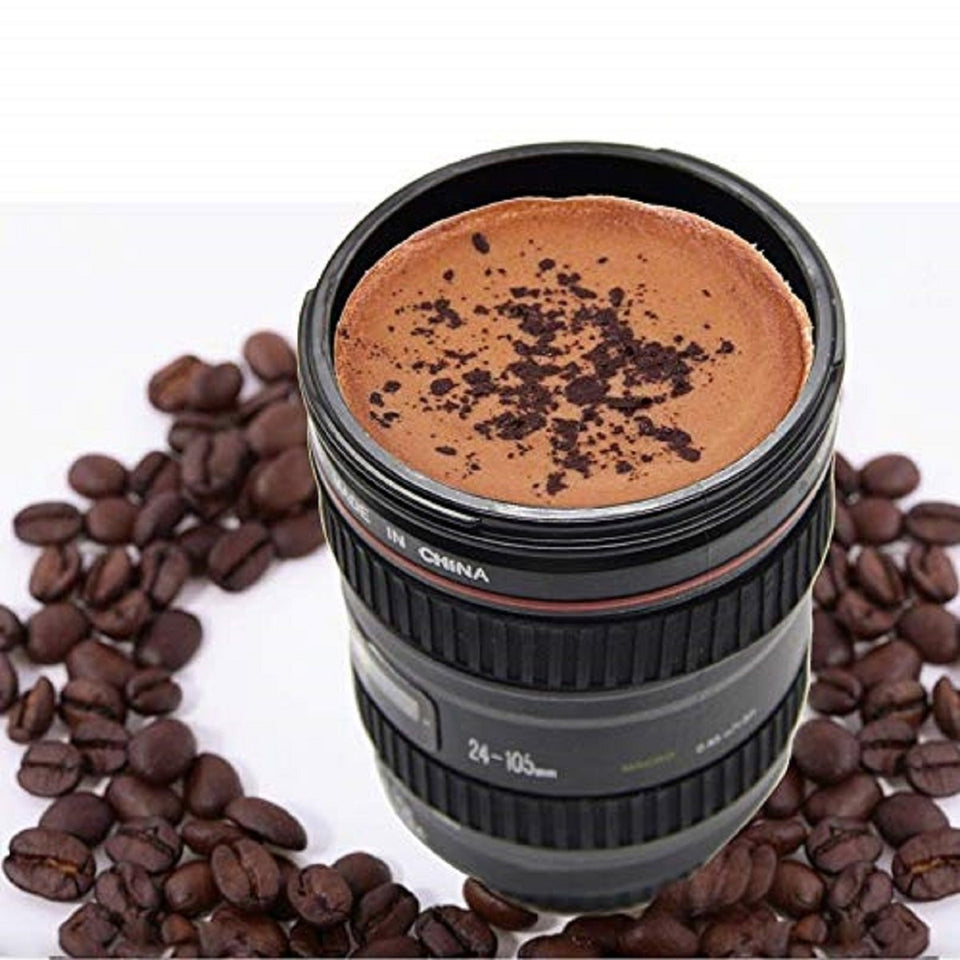 Top Quality Best Selling New Coffee Mug Camera Lens Mug Cup Funny Cool Emulation Camera Scale Special Present Plastic Milk Beer Coffee Mug Cup 400 ml