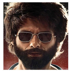 Trending Luxury Kabir Singh Indian Movie High Quality Sunglasses Men Square Silver Frame Cool Sun Shades Brand Design Black Glasses Boys