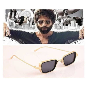 Trending Gold Square Frame Sunglasses Men 2020 Brand Design Indian Film Trendy Sun Glasses Celebrity Style