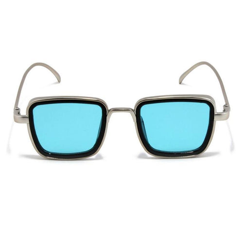 Trending  Luxury Kabir Singh Indian Movie High Quality Sunglasses Men Square Silver Frame Cool Sun Shades Brand Design Blue Glasses Boys