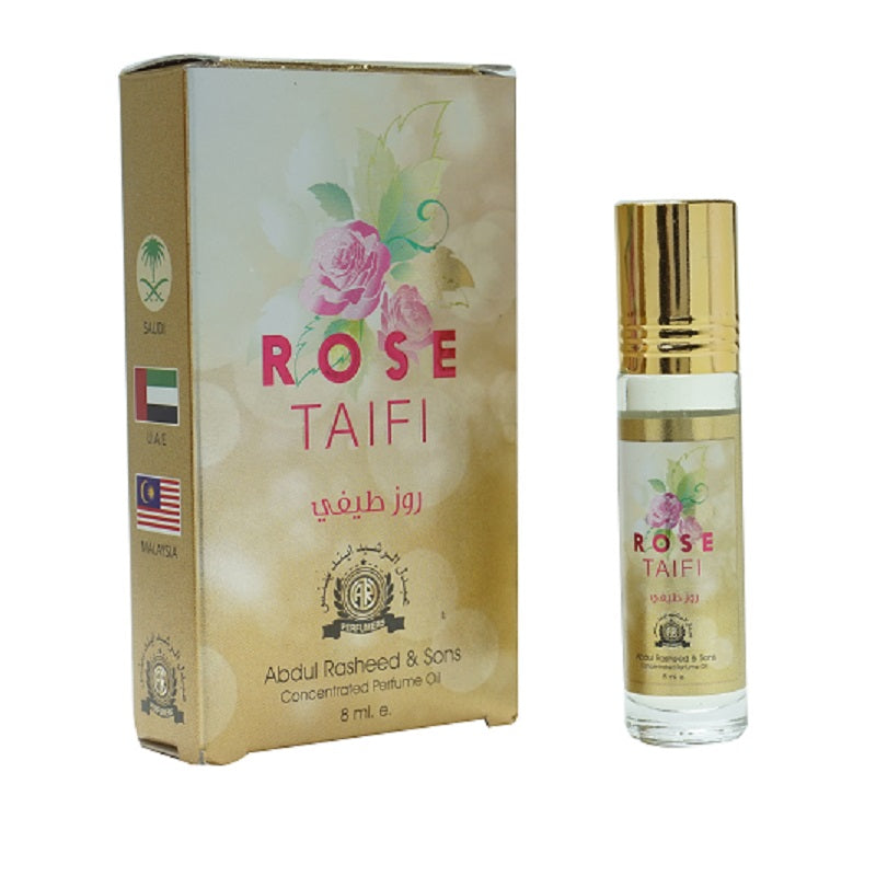 Top Quality Best Selling Natural Essential Attar Original Attar Floral Attar (Rose Taifi) 8ml Roll on
