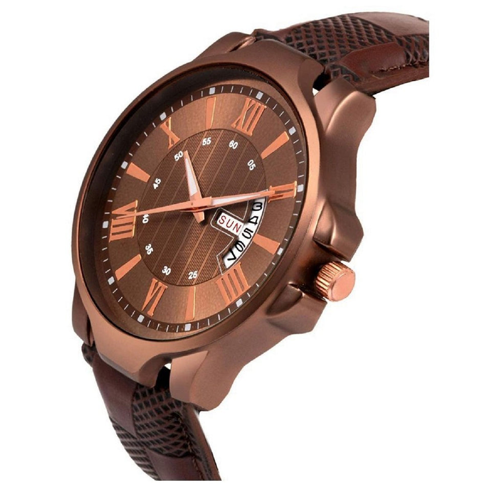 New Best Trending High Quality Brown Stylish Day And Date Professional Watches For Men