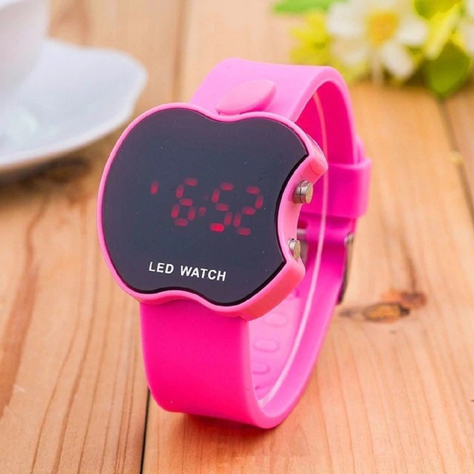 High Quality New Luxury brands LED Multi-function Digital Electronic Watch Boy Girl Fashion Sport Kids Watches Pink