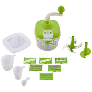 Top Quality Best Selling 10 In 1 Manual Food Processor Multipurpose Use, Fruit & Vegetable Chopper, Cutter, Juicer, Slicer, Grater