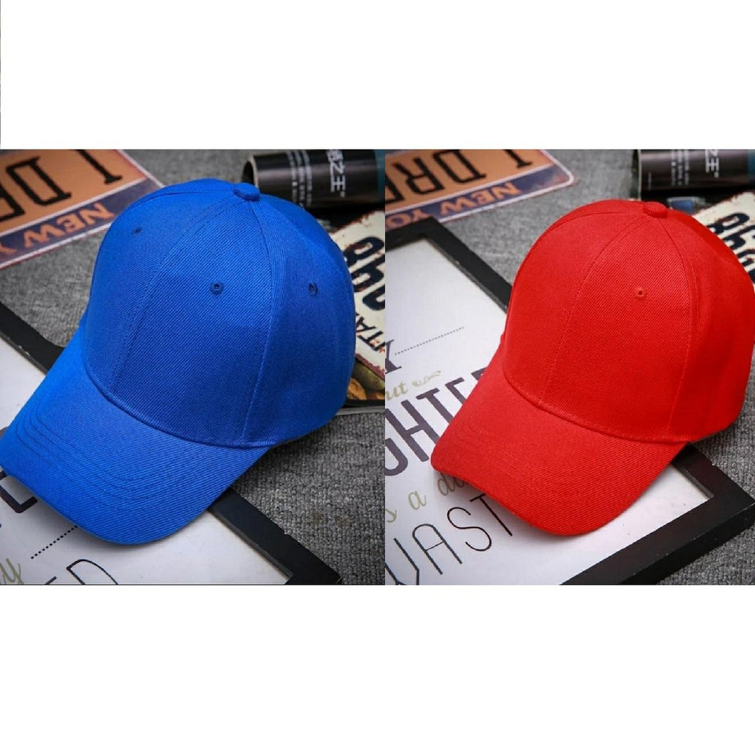 Trending Baseball 2020 Blue & Red Solid Color Snapback Caps Fitted Casual Hip Hop For Unisex