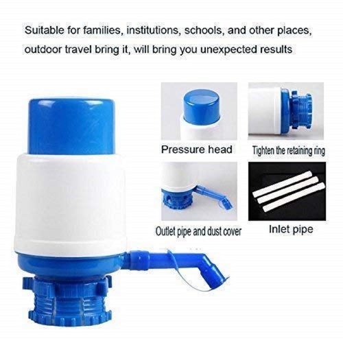 Top Quality Best Selling Basic Deal Plastic Manual Hand Press Bottled Pump Water Dispenser, Medium (Multicolour)