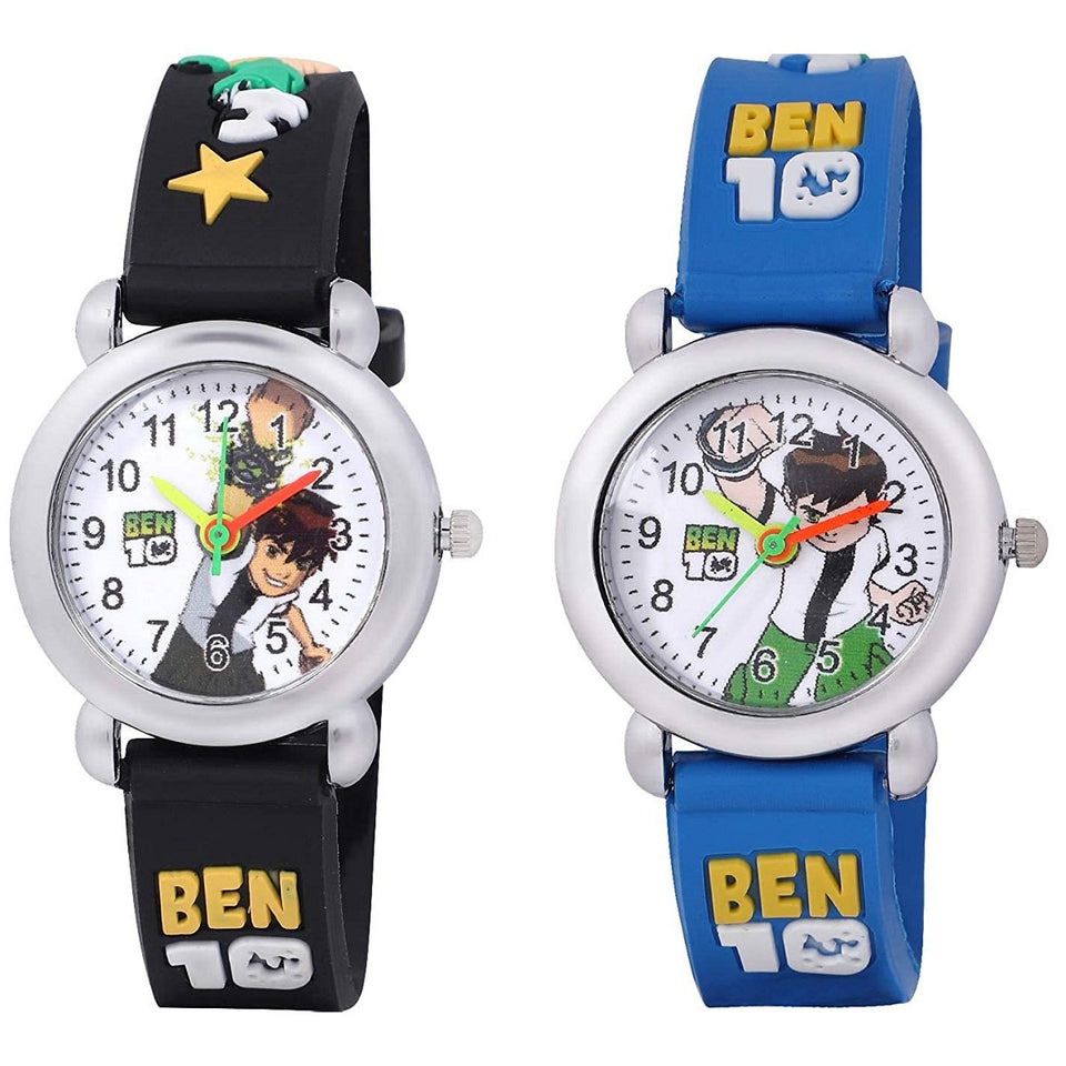 Trending Sale 3D Rubber Strap Ben 10 Children Watch Kids Cartoon Sports Quartz Wristwatch for Boys